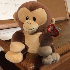Baby TY Beanie Baby monkey Banana 🍌 tags on